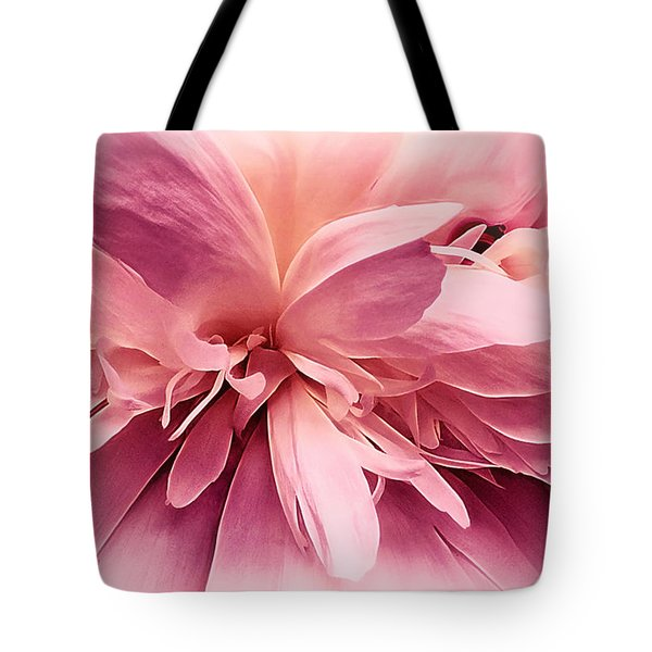 Tote Bag featuring the photograph Pink Ballet Powder Puff by Darlene Kwiatkowski