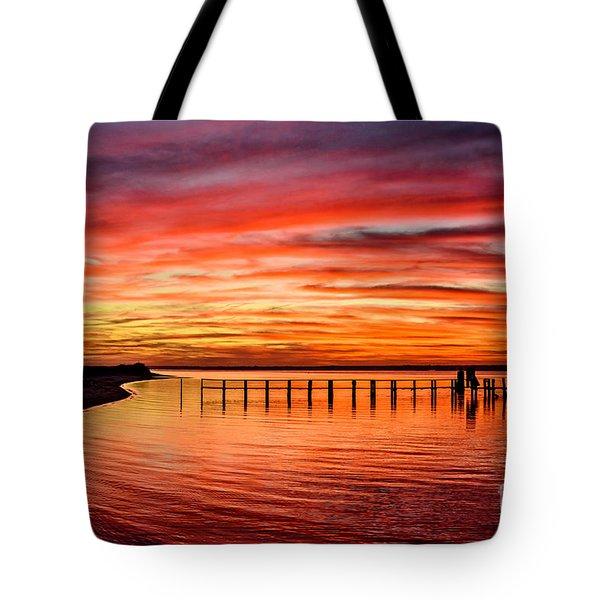 Pink Bay Tote Bag