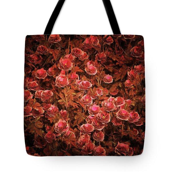 Pink Bionica Roses Tote Bag