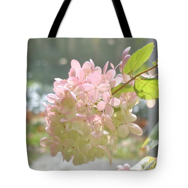 Pink Bloom In Sun Tote Bag