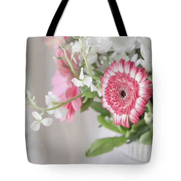 Tote Bag featuring the photograph Pink Blooms Love by Kim Hojnacki