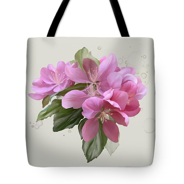 Tote Bag featuring the painting Pink Blossoms by Ivana Westin