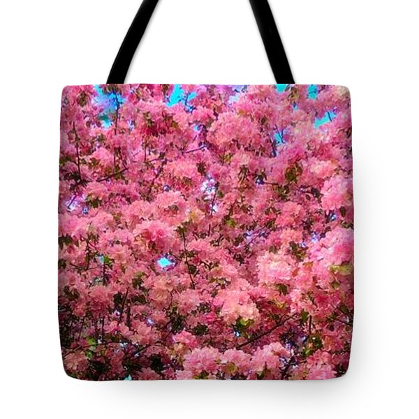 Pink Blossoms Of Spring Tote Bag