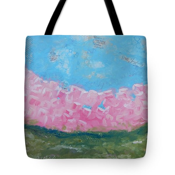 Pink Boxwoods Tote Bag by Sue Furrow