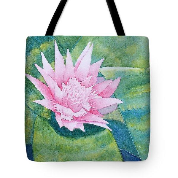 Pink Bromiliad Tote Bag