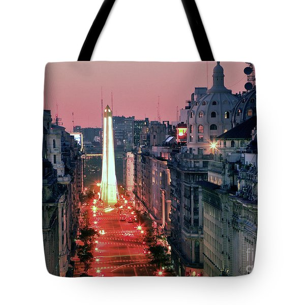 Tote Bag featuring the photograph Pink Buenos Aires  by Bernardo Galmarini