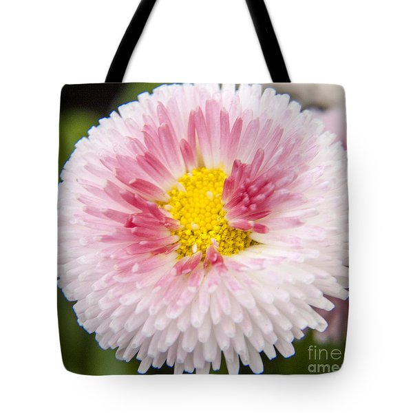 Pink Button Flower Tote Bag