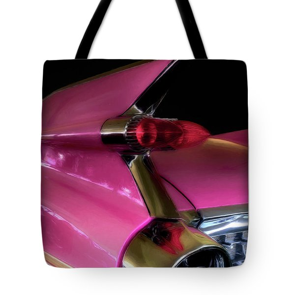 Pink Cadillac Tote Bag by Trey Foerster