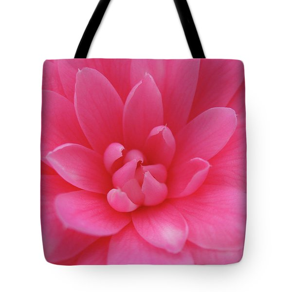 Pink Camellia Tote Bag by Juergen Roth