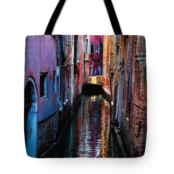 Pink Canal Tote Bag