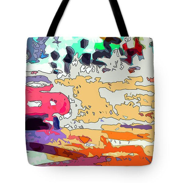 Pink Car Urban Graffiti Tote Bag