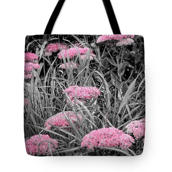 Pink Carved Cowslip Tote Bag