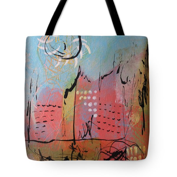 Pink City Tote Bag