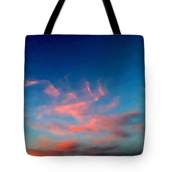 Pink Clouds Abstract Tote Bag
