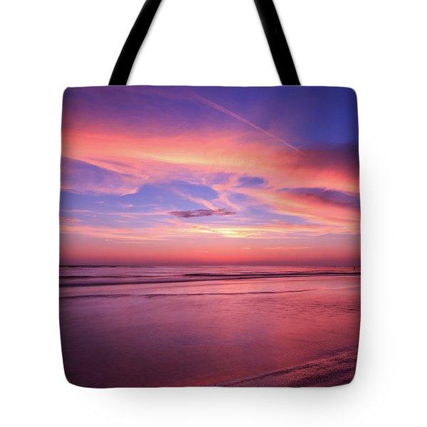 Pink Sky And Ocean Tote Bag