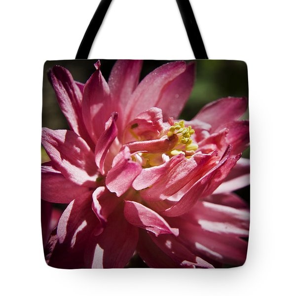Pink Columbine Tote Bag by Teresa Mucha