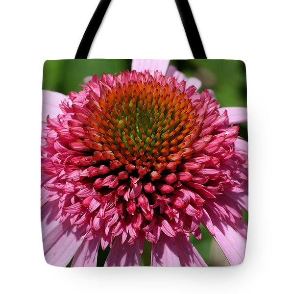 Pink Coneflower Close-up Tote Bag