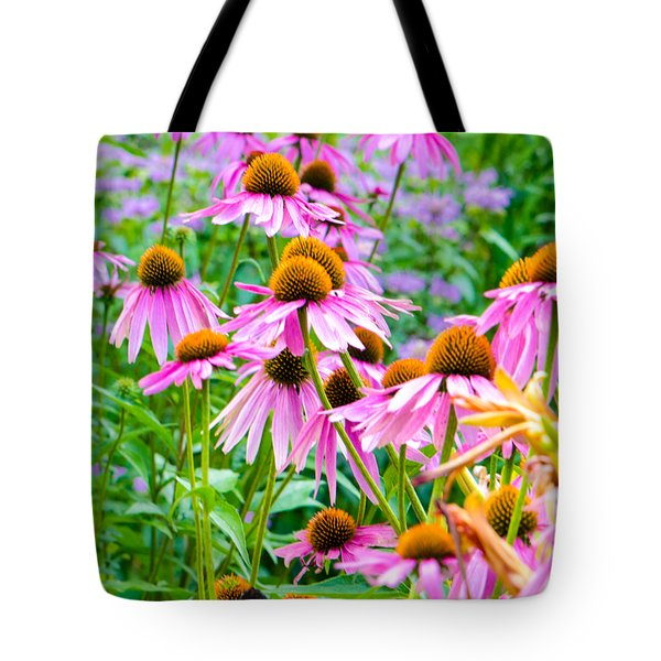 Pink Coneflower Tote Bag