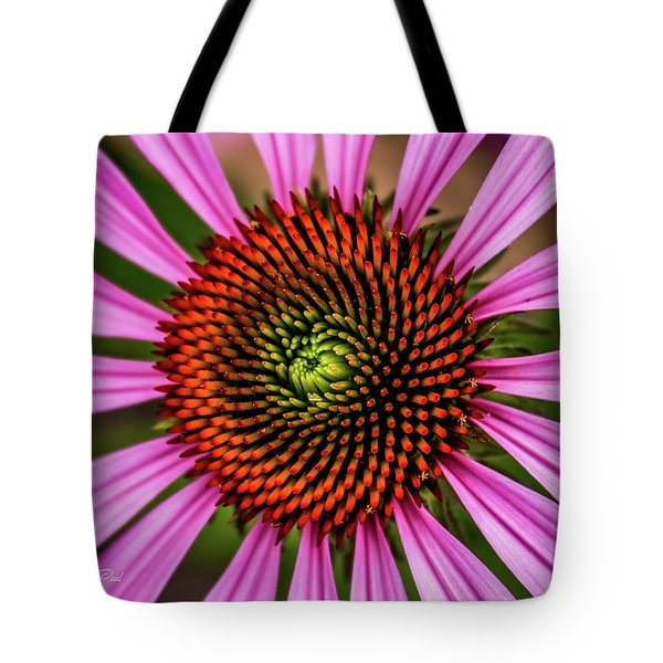 Tote Bag featuring the photograph Pink Cornflower by Joann Copeland-Paul