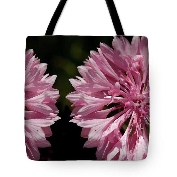 Pink Cornflowers Tote Bag