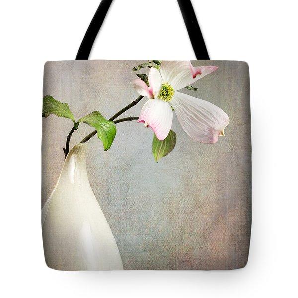 Pink Cornus Kousa Blossom In Creamer Tote Bag