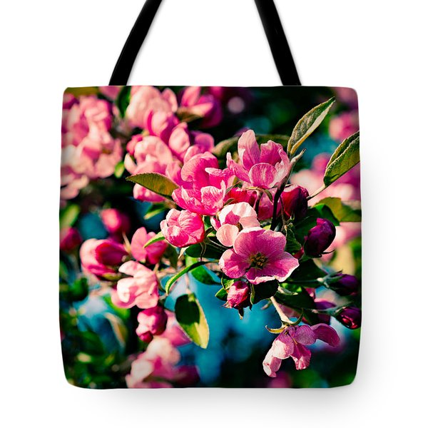 Tote Bag featuring the photograph Pink Crab Apple Flowers by Alexander Senin