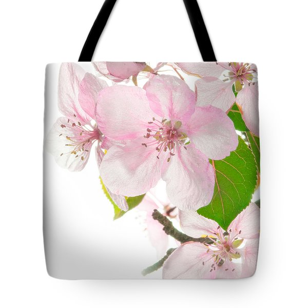 Pink Crabapple Blissoms Tote Bag