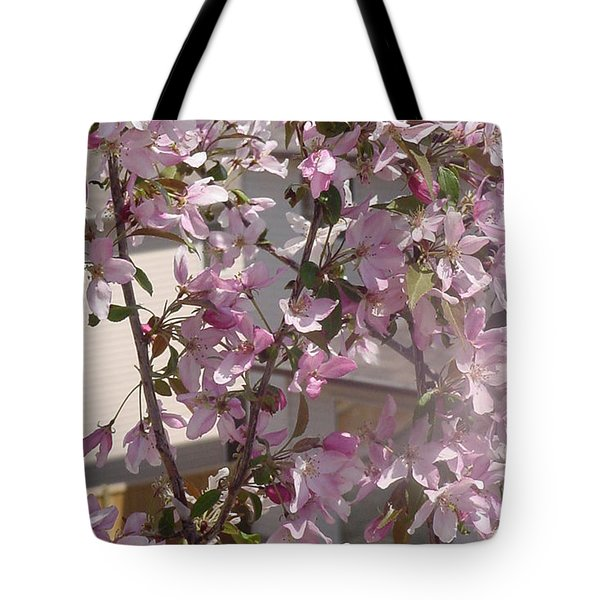 Pink Crabapple Branch Tote Bag