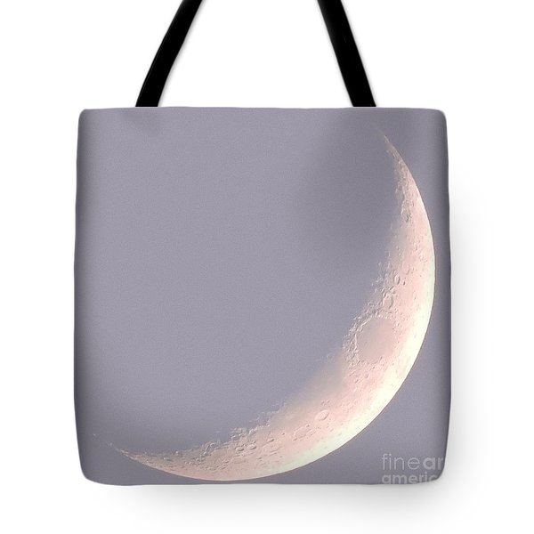 Pink Crescent Moon Tote Bag