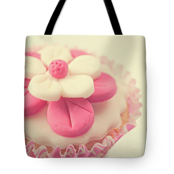 Tote Bag featuring the photograph Pink Cupcake by Lyn Randle