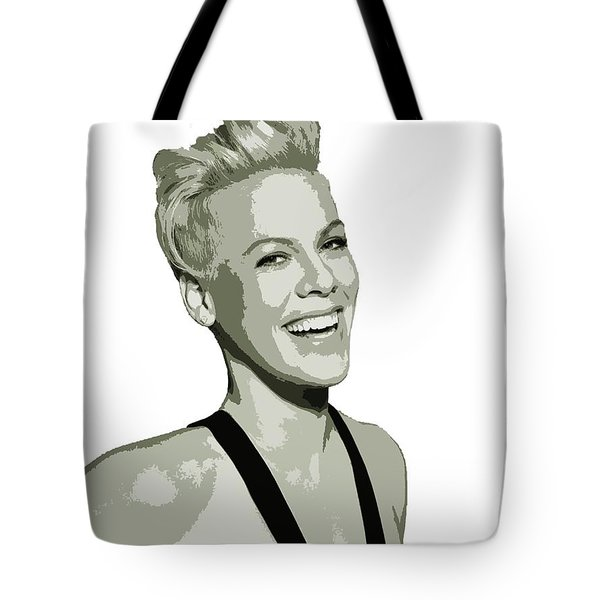 Pink Cutout Art Tote Bag