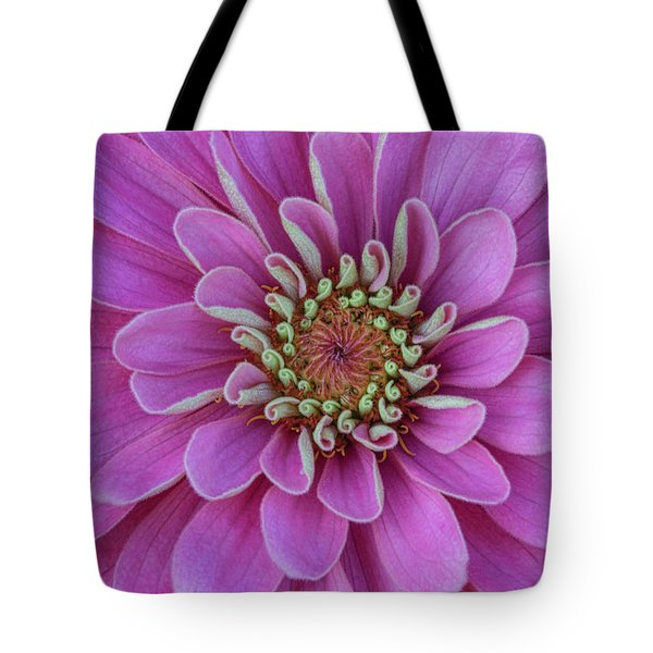 Tote Bag featuring the photograph Pink Dahlia by Dale Kincaid