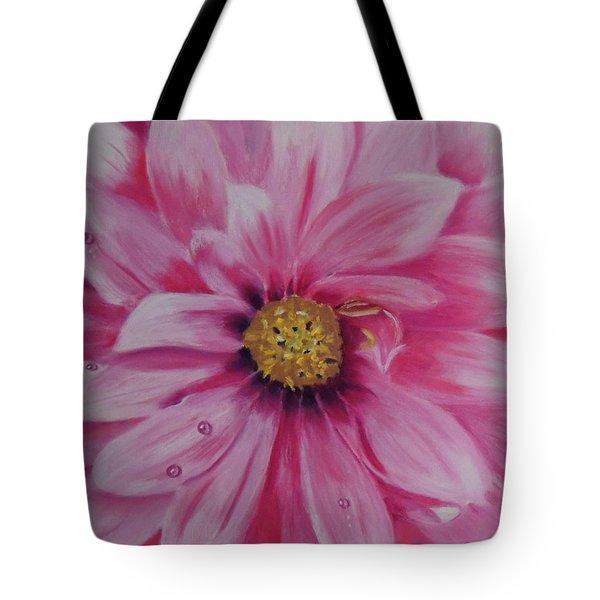 Pink Dahlia I Tote Bag