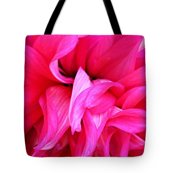 Tote Bag featuring the photograph Pink Dahlia by Kristin Elmquist