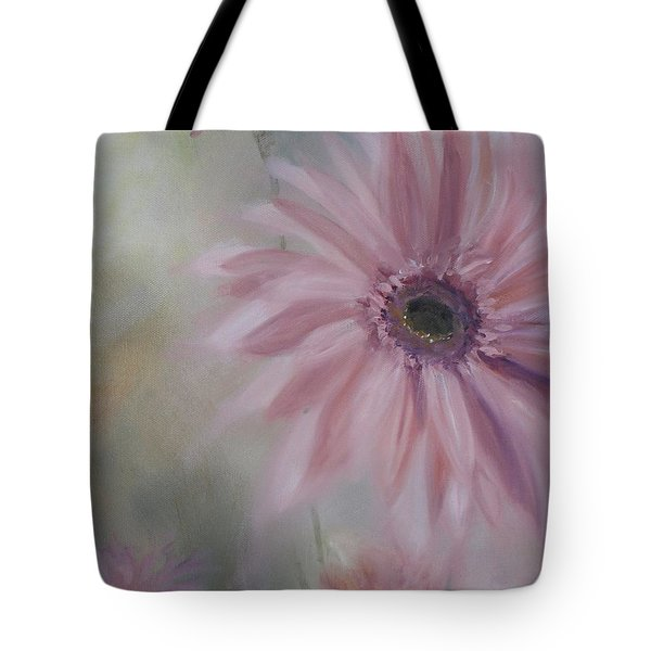 Tote Bag featuring the painting Pink Daisies by Donna Tuten