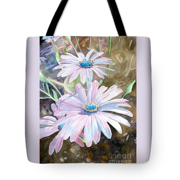 Tote Bag featuring the painting Pink Daisy by LeAnne Sowa