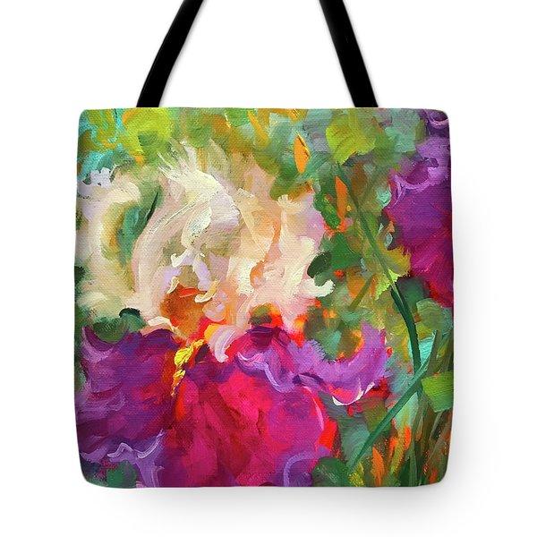 Pink Dancer Iris Tote Bag