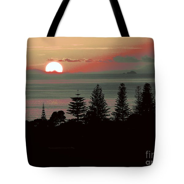 Pink Dawn Tote Bag by Karen Lewis
