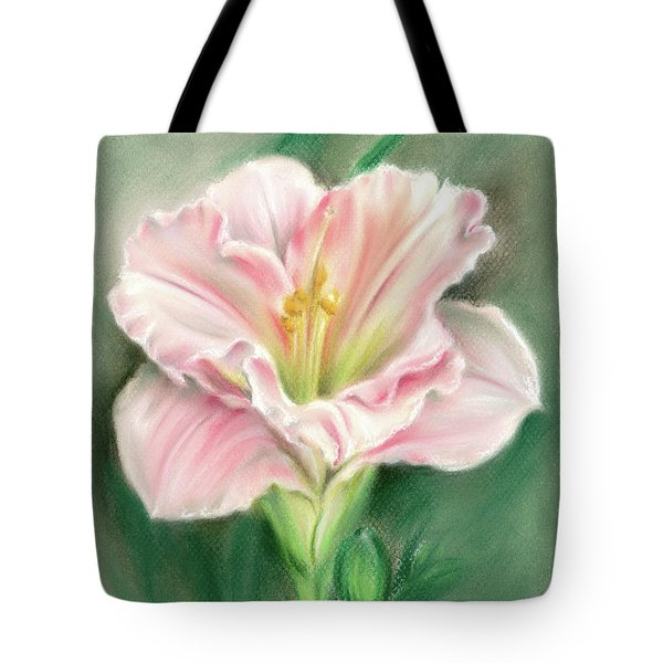 Pink Daylily And Green Buds Tote Bag