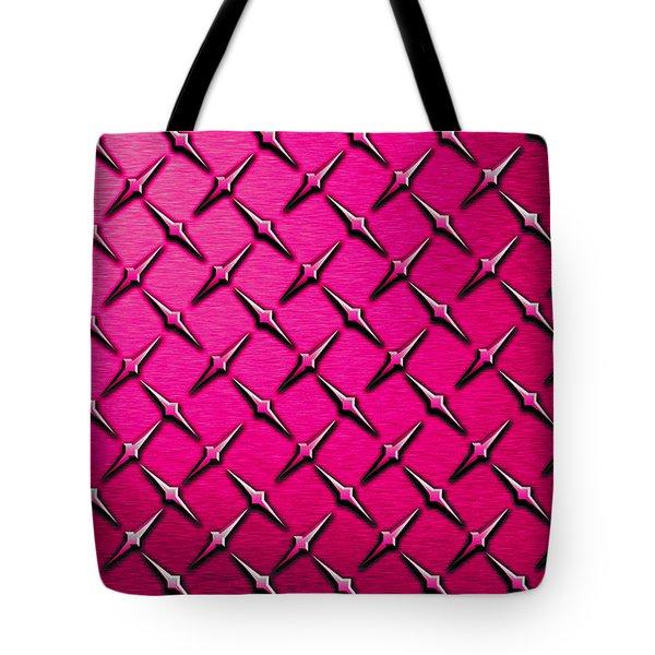 Pink Diamond Plate  Tote Bag