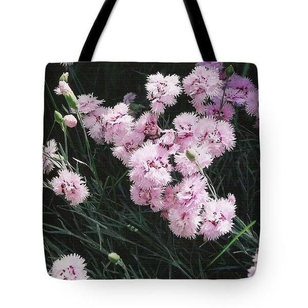 Tote Bag featuring the photograph Pink Dianthus by Charles Robinson