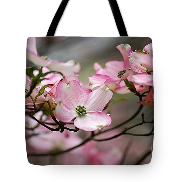Tote Bag featuring the photograph Pink Dogwood 20120415_68a by Tina Hopkins