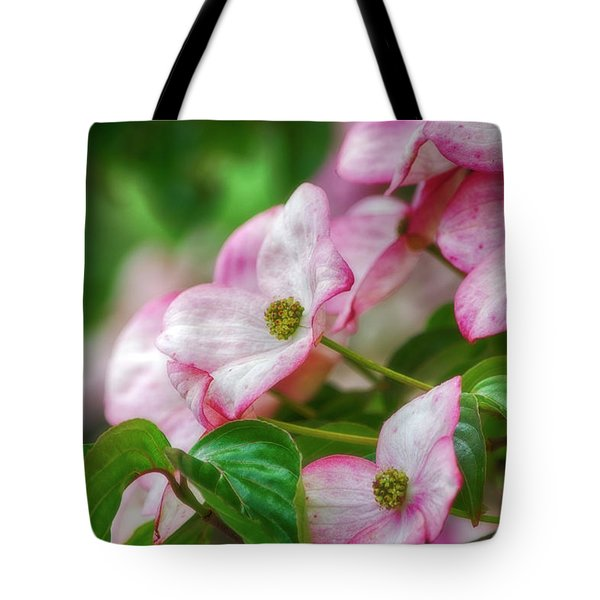 Tote Bag featuring the photograph Pink Dogwood by Bonnie Bruno