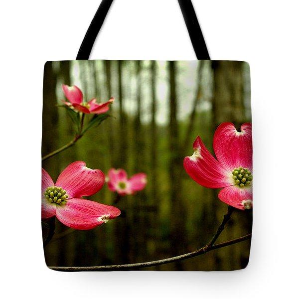 Pink Dogwood Flowers Tote Bag
