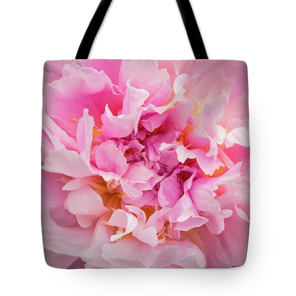 Pink Double Peony Tote Bag