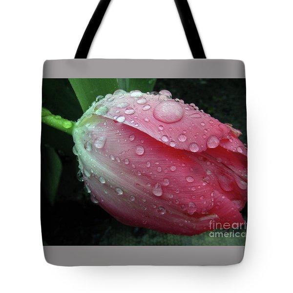 Pink Drops 2 Tote Bag