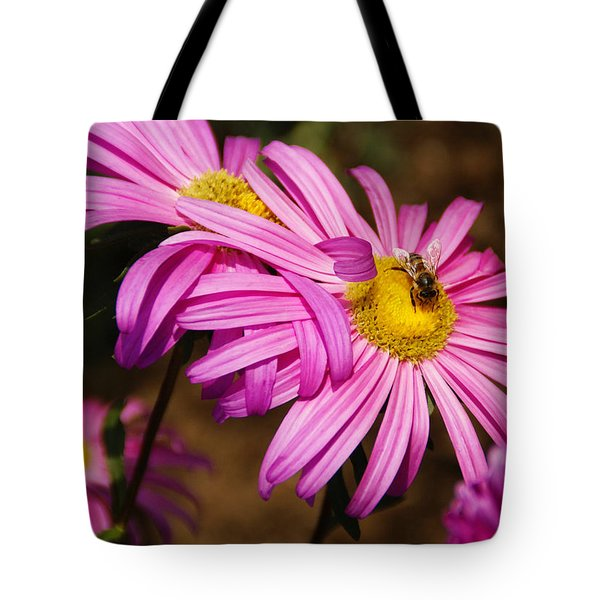 Pink Embrace Tote Bag by Linda Shafer