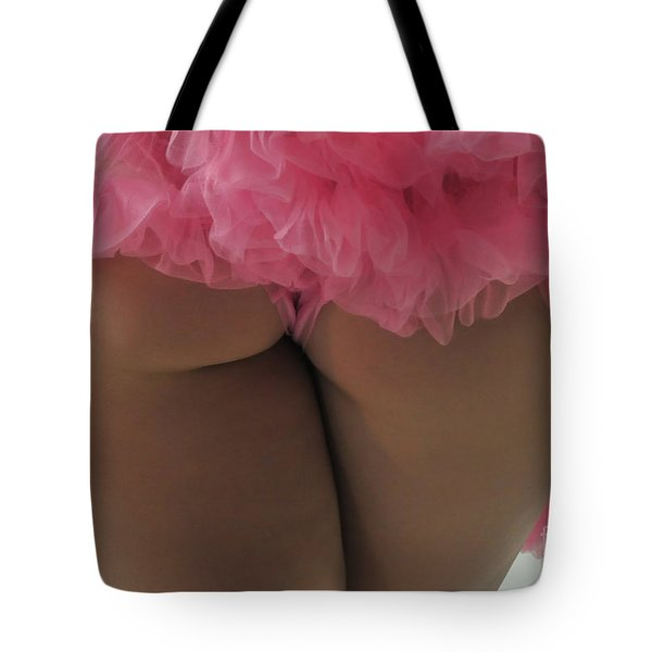 Pink Fanny Tote Bag by Robert WK Clark