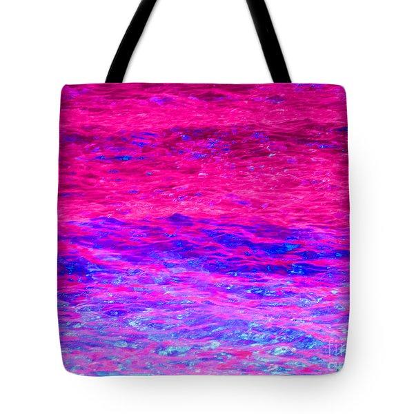 Pink Fantasy Waters Abstract Tote Bag