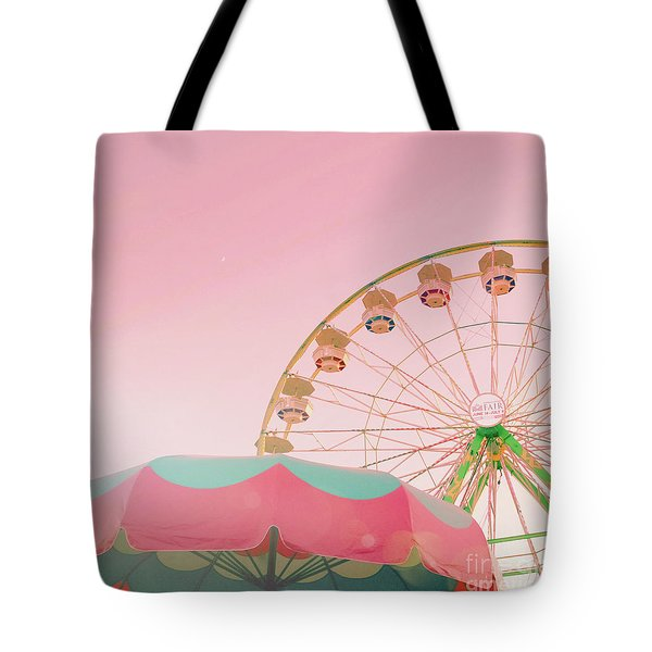 Tote Bag featuring the photograph Pink Ferris Wheel by Cindy Garber Iverson